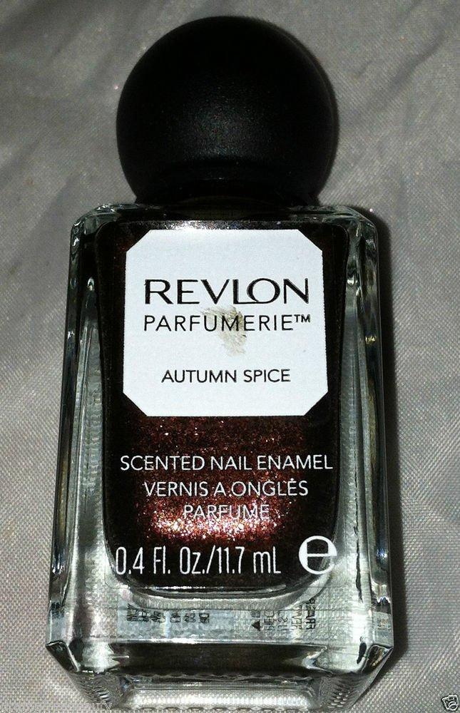 Revlon parfumerie Scented Nail Polish * 100 AUTUMN SPICE * Brown Base Duo Chrome