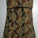 Fit 4 U Thighs *CASBAH Drawstring Brown Printed Empire SWIMDRESS* Size 10 $128+