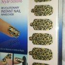Broadway Nails Nail Dress 28 Stick-On Polish Wraps *LEOPARD PRINT*  Design BNIB