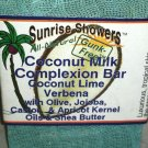 Al Natural Coconut Milk Complexion Bar Coconut Lime Verbena Gunk-Free Brand New!