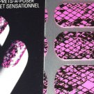 Maybelline Color Show Fashion Prints Nail Stickers * 10 FIERCE N FUCHSIA * New