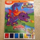 "Magic Paint Posters by Savvi 12 Pages w/Color ""MIGHTY MONSTERS"" Dinos & Dragons"