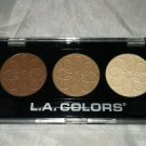 L.A. Colors 3 Color Eyeshadow Palette * NATURAL * Brand New