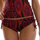 VODA Essence *Adjustable Scoop Bottoms* Red/Orange/Purple/Black Size L Large NWT