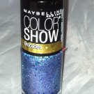 Maybelline Color Show Nail Polish Brocades * 785 BEAMING BLUE * Blue/Gold/Purple
