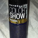 Maybelline Color Show Nail Polish Brocades * 755 EMBELLISHED BLUES * Blue/Gold