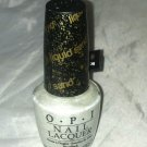 OPI Nail Polish * SOLITAIRE * Liquid Sand Collection White w/ Silver Micro New