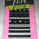 Fing'rs FLIRT #31690 *3D Nail & Toe Art Decals* White & Silver Crowns, Lace BNIP