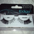 Ardell Edgy False Eyelashes * 401 BLACK * Lightweight Easy Application Brand New