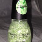 Sinful Colors St. Patrick's Nail Polish 1512 *SHAMROCKIN'* Green/White Glitters
