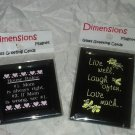 Dimensions Magnet Glass Greeting Cards 2pc Lot * LIVE WELL & HOUSE RULES * New