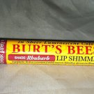 Burt's Bees 100% Natural Lip Balm Shimmer Luminescent Color *RHUBARB * BN Sealed