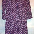 Mossimo Supply Co. Rayon Drop Waist Blue Print Tunic Dress Large/L BNWT
