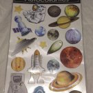 Outer Space Stars Planets Rocket Ships 3D raised Stickers/autocollant Hand Made