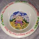 Vintage 1976 Fraser Melamine Nursery Rhyme Bowl Humpty Dumpty HEY DIDDLE Cat Cow
