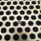 "Black & White Polka Dots Sewing/Craft Fabric (60"" X 38"") Stretch Jersey Cotton"