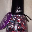Salon Perfect Special Effects Top Coat *LIBERTY BUBBLES* 4th July Circle Glitter