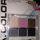 L.A. Colors 6 Color Eyeshadow Palette Set BEP435 *NITE OUT* Smokey Eye BN Sealed