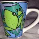 Signature Houseware Inc. * FROGS * by Ursula Dodge Green/Blue Coffee Mug/Cup EUC