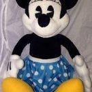 "Walt Disney Retro * MINNIE MOUSE Talking Plush * Blue/Yellow Polka Dot Skirt 20"""