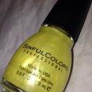 Sinful Colors Nail Polish 1581 *OTAKU ANIME* Luminous Yellow Jelly Shimmer Sheen