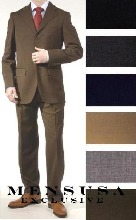 premeier quality italian fabric Flat Front Pants 1 Wool Super 150's 3 Buttons Mens Dress Suits