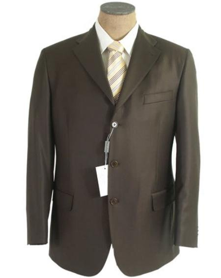 Olive Green Men's Single Breasted Discount Dress 3 or 4 Button Suit