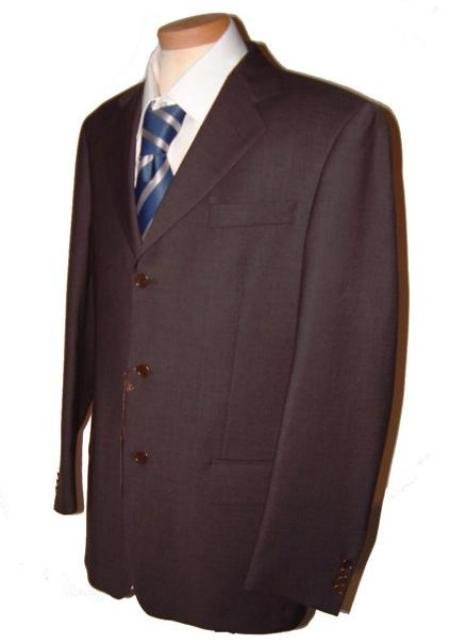 Dark CoCo Brown Men's Single Breasted Discount Dress 2or3or4 Button Suit.