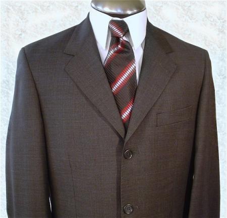 Dark Brown premeier quality italian fabric Super 120's Wool.