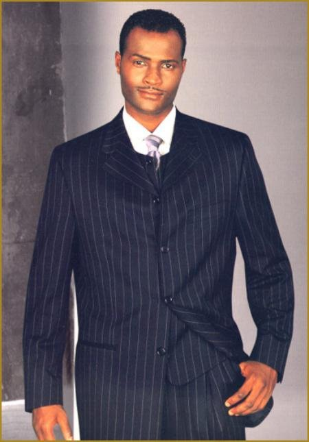 4 Buttons 34 Inch Jacket Vested Comes With Wide Leg Pants