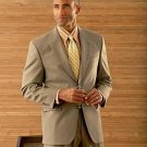 Coffe Tan/Beige Men's 2 Button Super Wool Double Side Vent