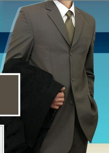 Men's Olive Geeen Double Vent Super 140's Wool Suits