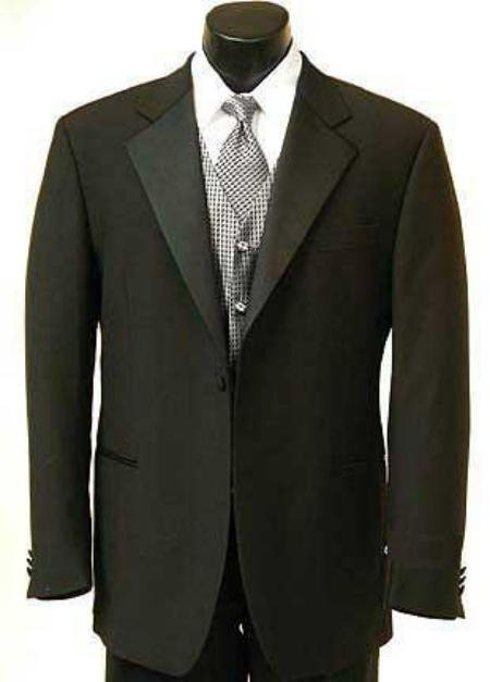 1 Button Tuxedo Satin Covered Jacket + Pants