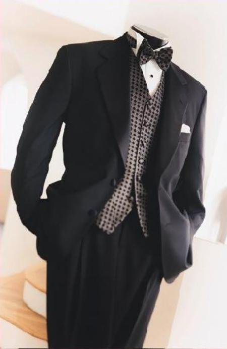 2 Button Gianni Super 140's Wool premeier quality italian Design jacket + Pants + Shirt + Bow Tie
