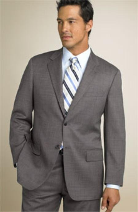 Classic Two Button Mid Gray~Grey(Not Very light & Not Dark Gray) Business Suit