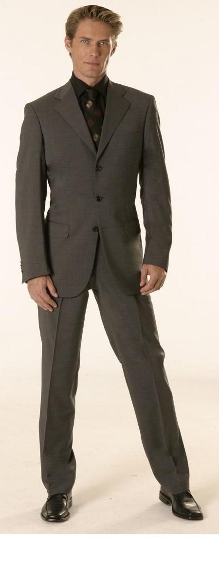 Gianni Charcoal Gray Super 120's Wool