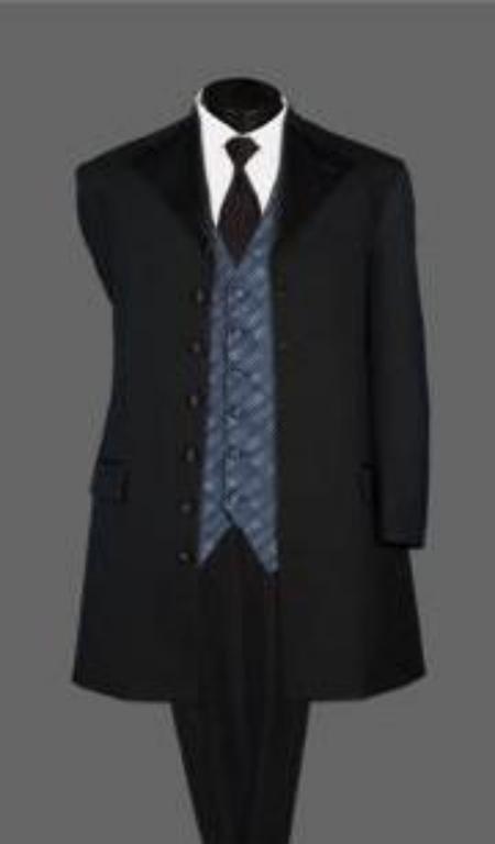 Long Tuxedo Suit