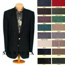 Mens 2 Button Front 4 on Sleeves Fully Lined Metal Buttons Blazer All Colors