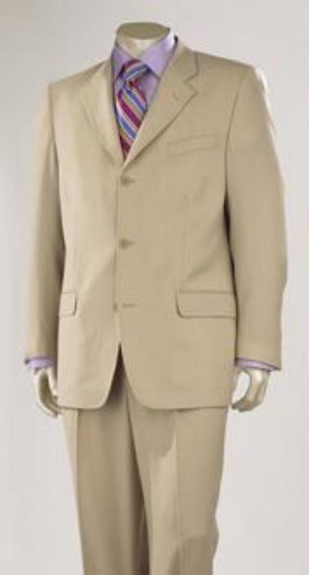 Medium Tan Super 150's Wool 3 Buttons premeier quality italian fabric Design
