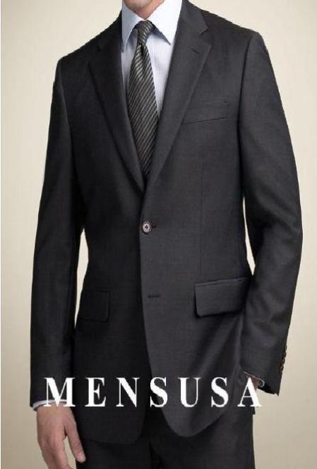 Black 2 Buttons premeier quality italian fabric Men's Suits Super 100's