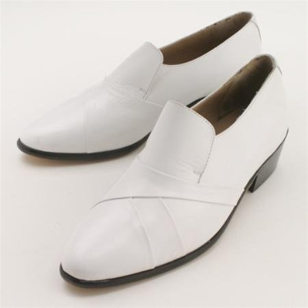 WHITE Hand-pleated vamp in fine kid skin upper with genuine leather sole. Center gore