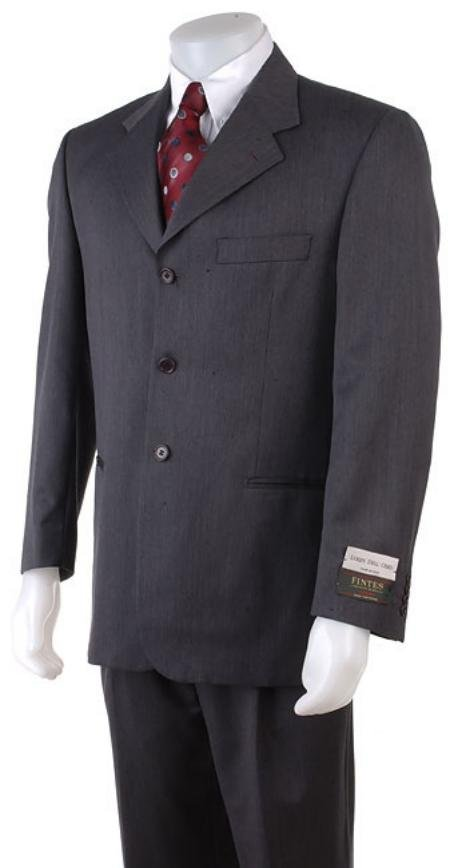 English Gray Double Vent 3 Buttons Super150's Wool Men's Suits