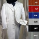 Shiny Ton On Ton Shadow Pinstripe Long Zoot Suit in Many Colors