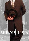 Mens Darkest CoCo Brown Fashion Long Zoot Suit