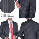 BLack & White Pinstripe 3 Buttons year-round weight