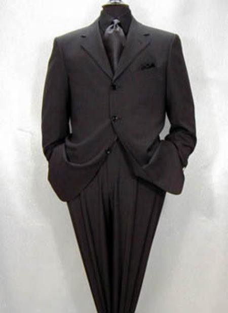 TRUE Charcoal Gray Super 150's Wool  Gold premeier quality italian fabric collection