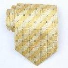 Silk Yellow/Blue Woven Necktie