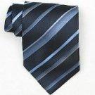 Silk Navy/Lt.Blue/Gold Woven Necktie