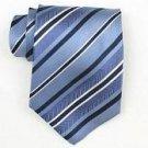 Silk Lt.Blue/Navy/White Woven Necktie