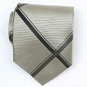 Silk Gold/Black Woven Necktie
